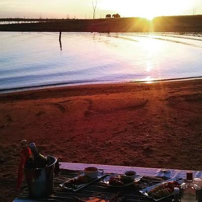 Sundownes on the beach